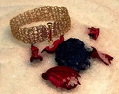 Knitted wire bracelet 14k Gold Filled Bridesmaid for a wedding