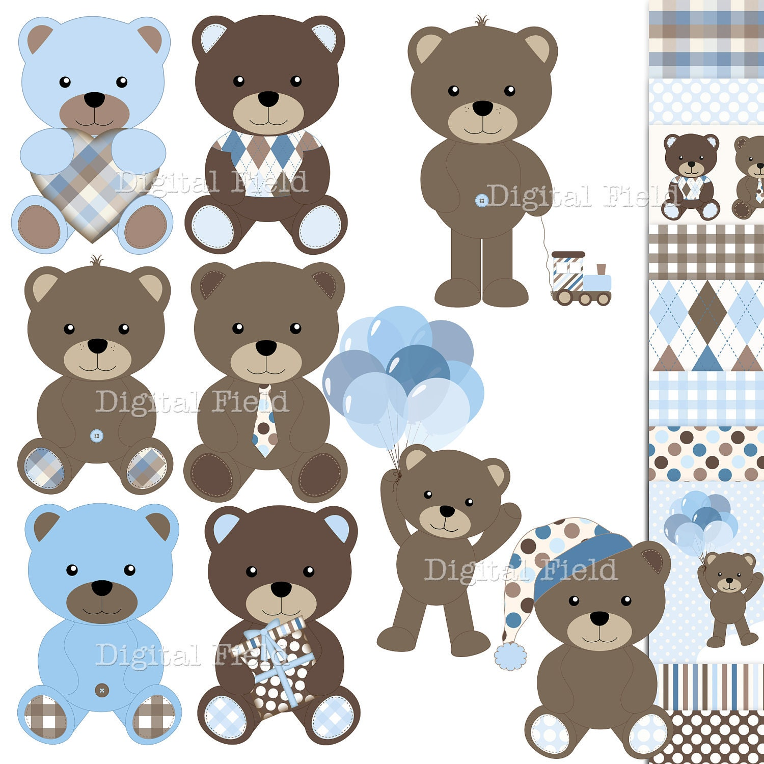 Baby boy teddy bear clip art - photo#5