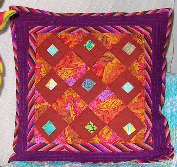 SALE! OOaK Wonky Squares Pillow Cover