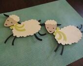 baby lamb nursery wall hanging, kids room wall art, farm animals decor, sheep nursery decor, baby girl room decor