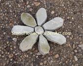 Stone Flowers Garden Art         Hand Chipped Sandstone Flower