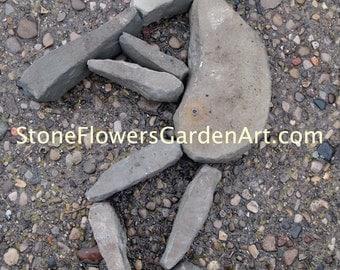 Stone Flowers Garden Art         Hand Chipped Sandstone Kokopelli