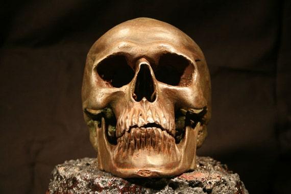 Cast Aluminum Skull