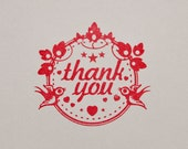 UNmounted Thank You Stamp (Clear stamp)