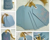 WEDDING CHALKBOARD Escort Cards // TAGS - Wedding Wish Tree- Wedding Decoration- Wedding Shower- Reusable Tags (Slate Blue Color)