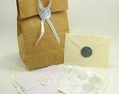 Wedding Invitation Seals, Wedding Envelope Seals, Wedding Thank You Cards Stickers, Favor Bag Stickers--- Metallic Silver Collection