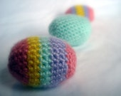 Crocheted Easter Eggs - Multi/Mint