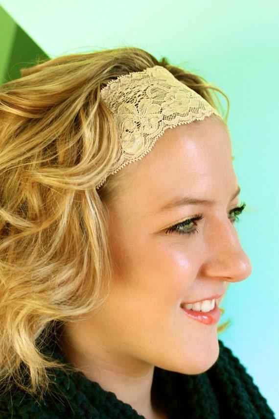 Nude - Lace Headband