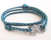Blue Climbing Rope S-Hook Bracelet