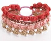 Coral Reef Crochet Bracelet