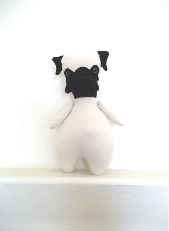 Mon Cher Pug (black and fawn) pug doll