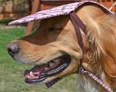 Large Dog Protection from UV Radiation with Pink Dog  Sun Visor