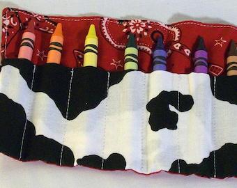 Crayon Roll Western Cowboy & Cowgirl