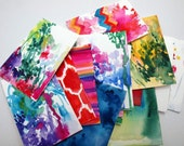 Gift Set of 15. Prints of Watercolors. Mix and Match Summer Abstracts
