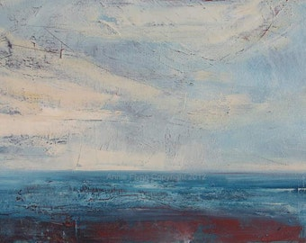 Seascape in Blue and Red