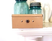 Lock Box and Keys Vintage 1970s Metal Bank Cash Box