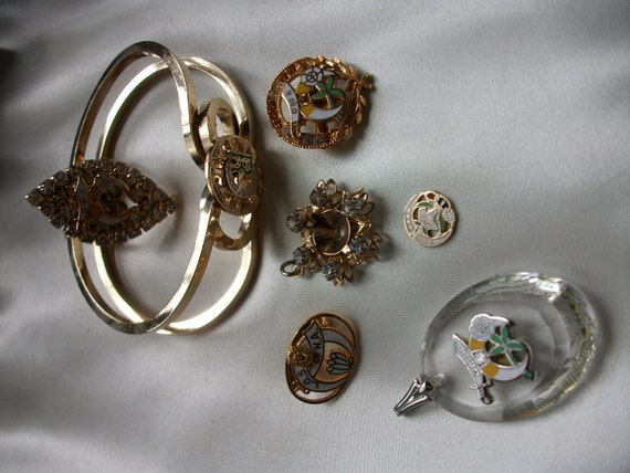 Vintage Ladies Oriental Shrine of North America and Daughters of the Nile jewelry lot