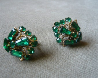 Vintage Czechoslovakian Crystal Earrings