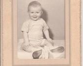 Antique Photo of a Happy Baby