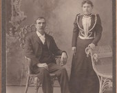Antique Cabinet Photograph of a Happy Couple