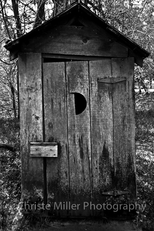 Outhouse Black Amp White Photo Print