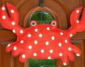 Red Crab Burlap Door and Wall Hanger