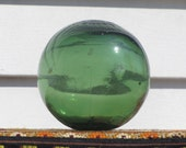 Vintage Green Glass, Buoy Ball, Green Buoy Ball, Green Glass Ball, Glass Ball