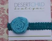 Rolled Rose Headband 1 Extra-Large rose