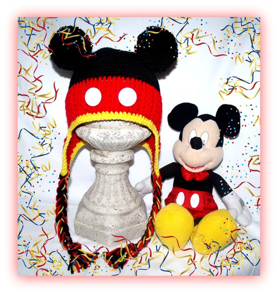 Highly Detailed, Hand-Made Mickey Mouse Hat Teen/Adult Size