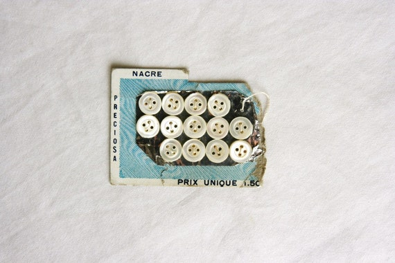 Tiny French buttons from French Country Life