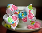 Lollipop Hair Bow Hair Clip Kids Hair Bow Girls Hair Bow Toddler Hair Bow Baby Hair Bow
