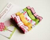 Baby Hair Clip Toddler Hair Clip Girls Hair Clip Kids Hair Accessory Pink Yellow Green Cherry and Stripes Hair Clips Set