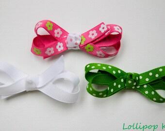 Pink Hair Clip Green Hair Clip White Hair Clip Hair Clip Set Hair Bow Set Baby Hair Clip Toddler Hair Clips Infant Hair Clips