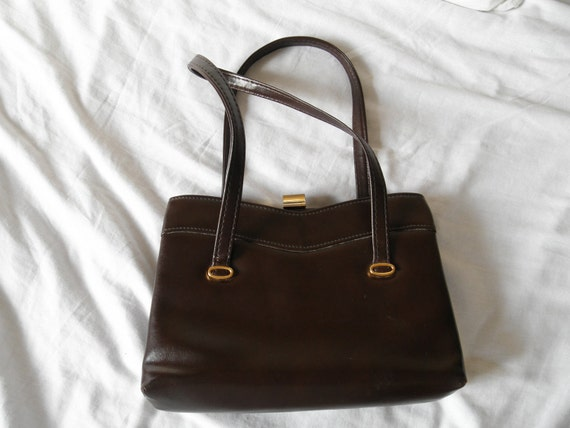 Vintage 1960s handbag brown purse