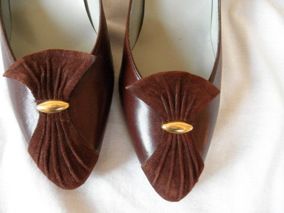 Vintage Pappagallo leather heels shoes size 8N