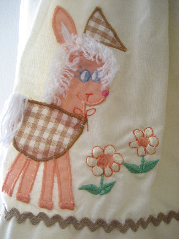 Girl's Lamb Decal Smock / Dress size 6 - 12 months