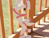 Hand Painted Baseball Letters - Great for a girl's or boy's room!