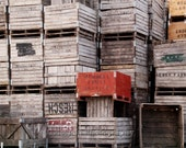 8x10 photograph Fruit Crates Red and Brown and Stacked - msvicwaas