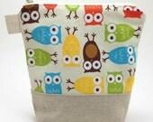 Reusable Sandwich Bag - Owls in Bermuda