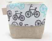 Reusable Snack Bag - Bicycles on White