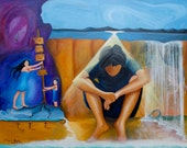 "40""x 60"" 2 of 3 ""Voices of Hope"" Original By Reyna Garcia"
