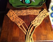 Vintage Leather Sunflower Belt
