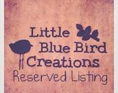Reserved Listing for Kristi Eader