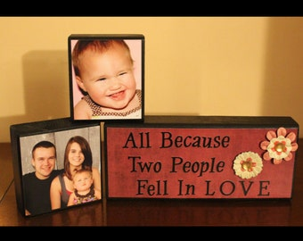 Picture Blocks with Quote Block-Home Decor
