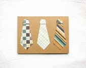 Father's Day Card: ORIGAMI TIES Father's Day Card--40% OFF