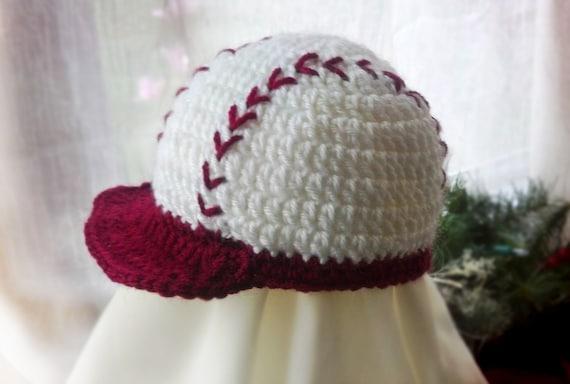 Free Crochet Pattern Baby Baseball Cap : Lil Slugger Baseball Hat by lilienfeldes on Etsy