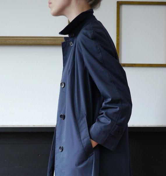Vintage Trench Coat Rain Coat Mackintosh Blue