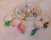 Wine charms, Steamwear Glass Charms - Swirl Me Silly by Charm Me