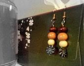 Wooden Beaded Simplistic Earrings