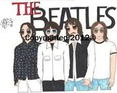 Beatles Anime Art